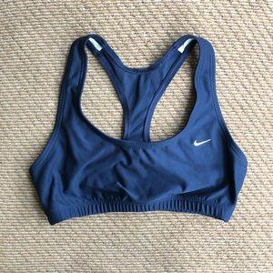 NIKE blue sports bra, size small